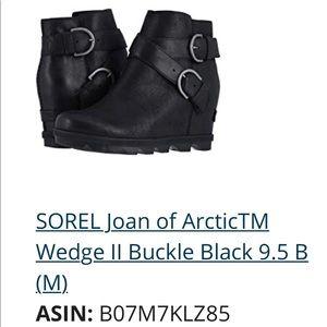 Sorel wedge buckle bootie. BNWT. Size 9.5
